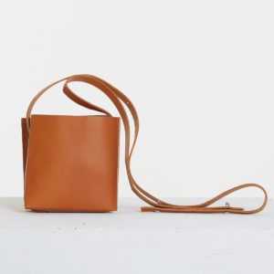 Small Square Leather Bag by Catherine Loiret