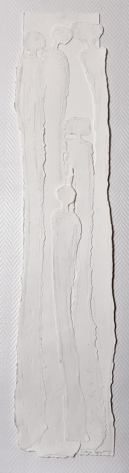Catherine Loiret, Artiste, reconnue pour son paper-art, des tableaux de papier exposés dans de nombreuses galeries d'art