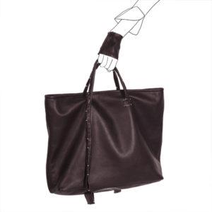 Catherine Loiret, Des sacs en cuir, raffinés, dissimulent des trésors de détails, de flexibilité et de jeux bag simpli-cube leather Catherine Loiret